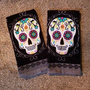 New Skull Design Hand Towels